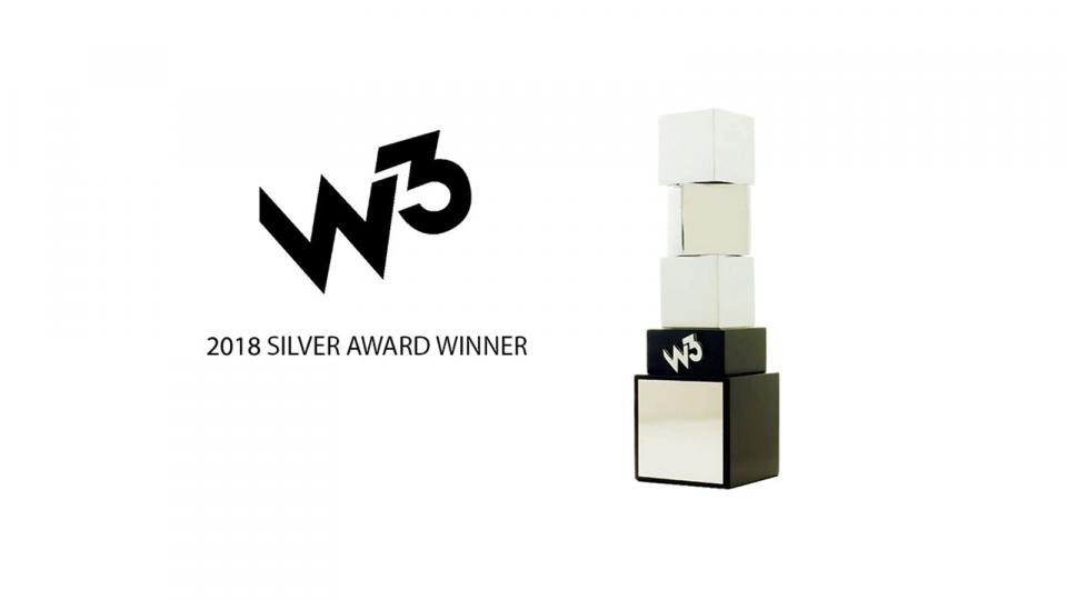 2018 silver w3 award 1