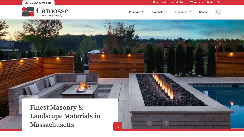 Camosse website design 1