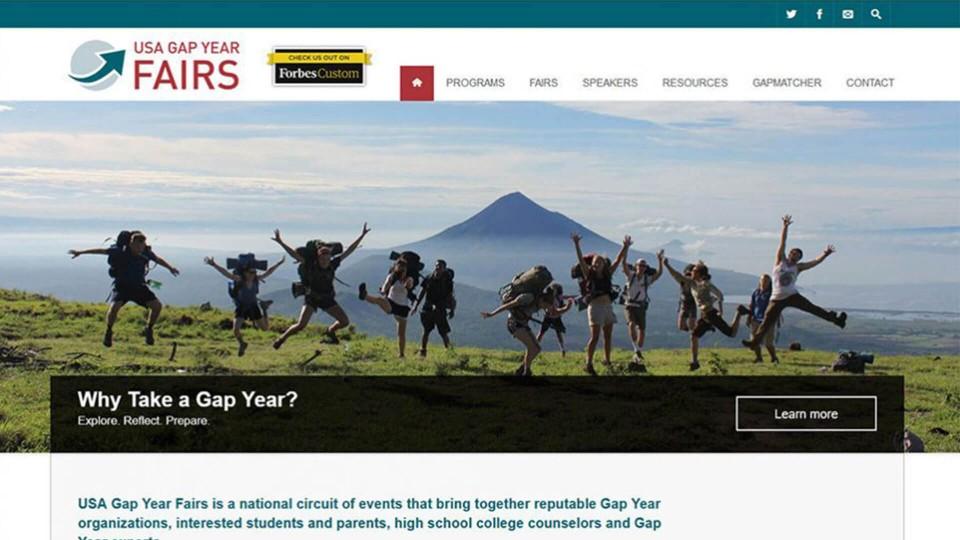 Website Design USA GapYearFair