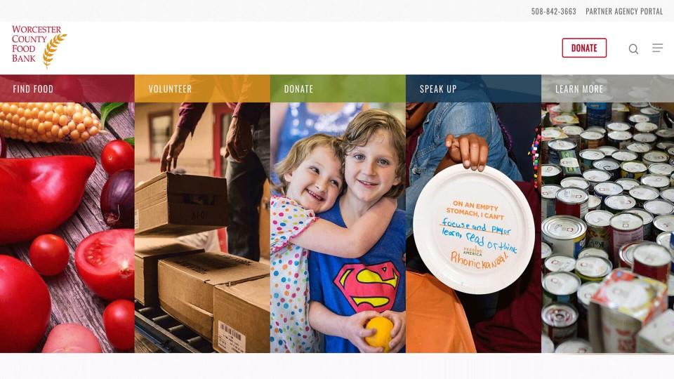 Website Design WorcesterCountyFoodBank