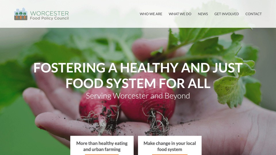 website design worcester food policy council