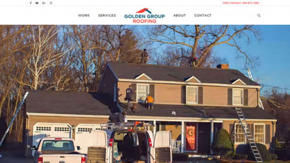 GoldenGroupRoofingWebsiteDesign