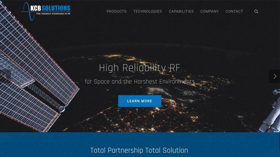 KCB Solutions web design thumbnail