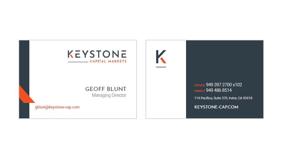keystone cap business card design