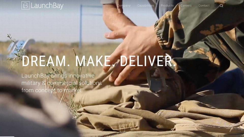 launchbay web design homepage