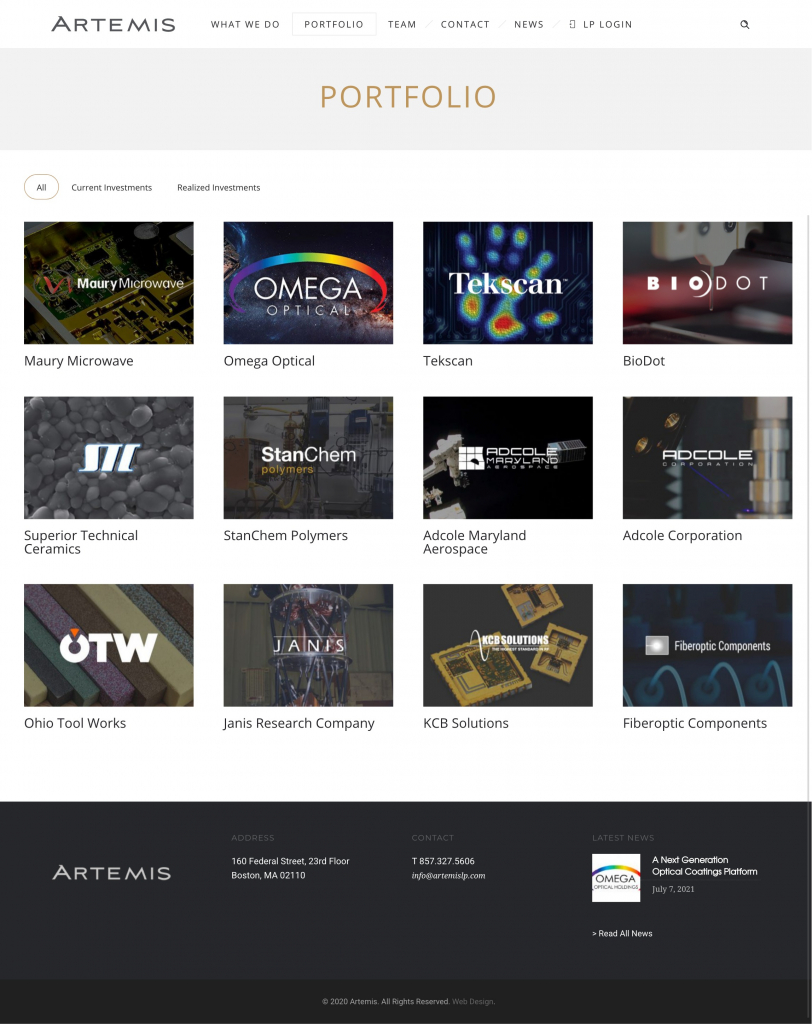 Artemis Private Equity Firm Sites 2