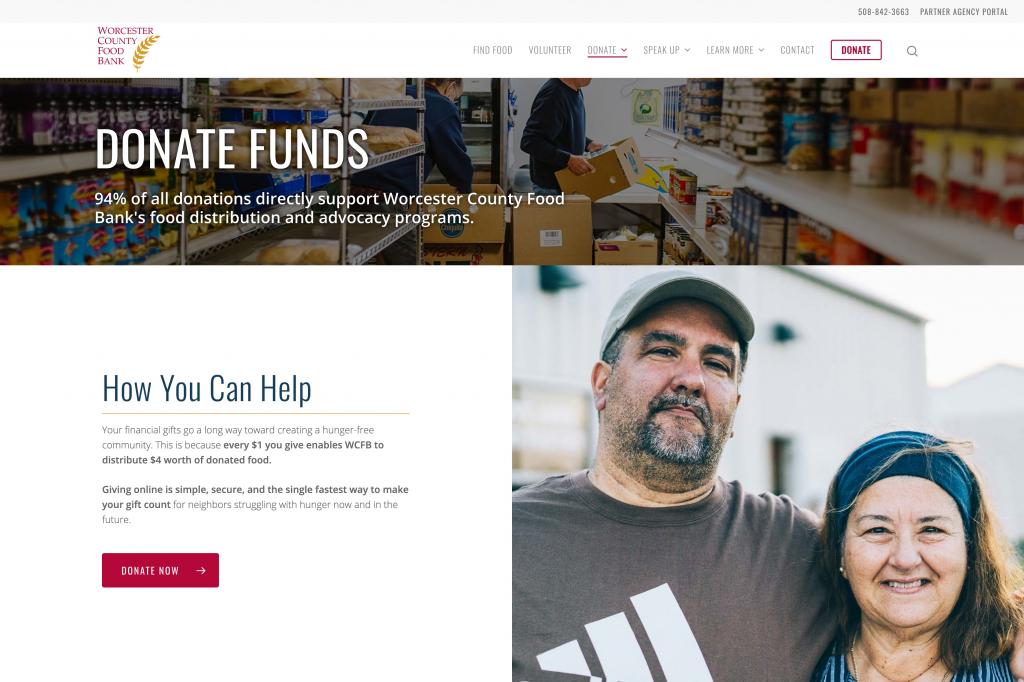 Donation Website Design 1
