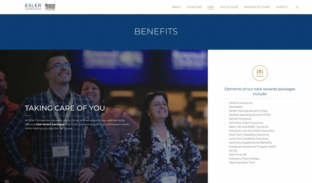 Esler Website Window Replacement Website