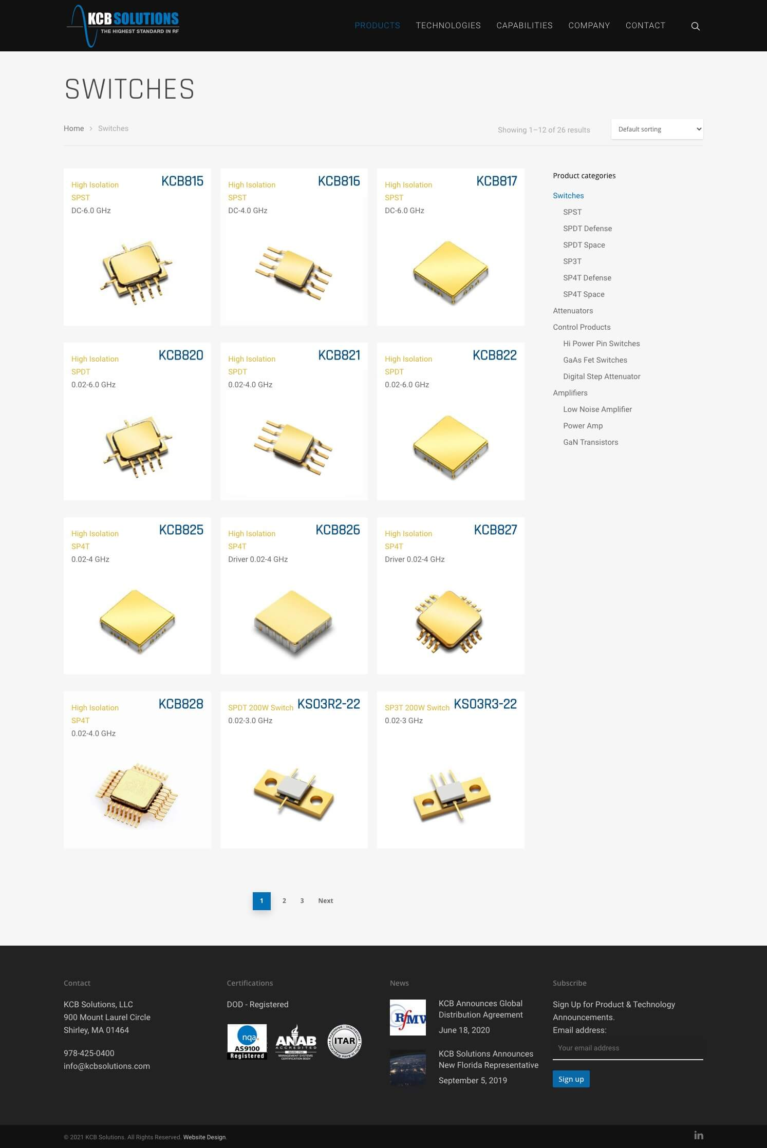 KCB Solutions Manufacturing Web Design